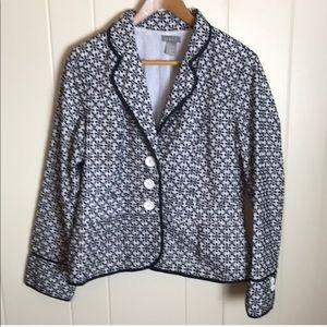 3/$27 Kenar Black White Structured Blazer